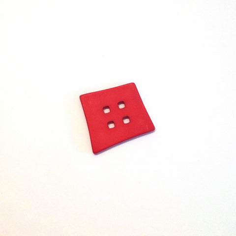 Red-Big-plastic-abstract-square-Button