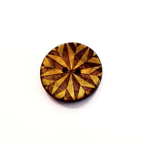 Geometric Star Coconut Shell Button