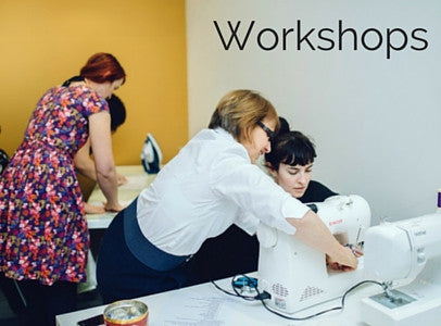 Workshops at make, sewing, knitting, crochet, make