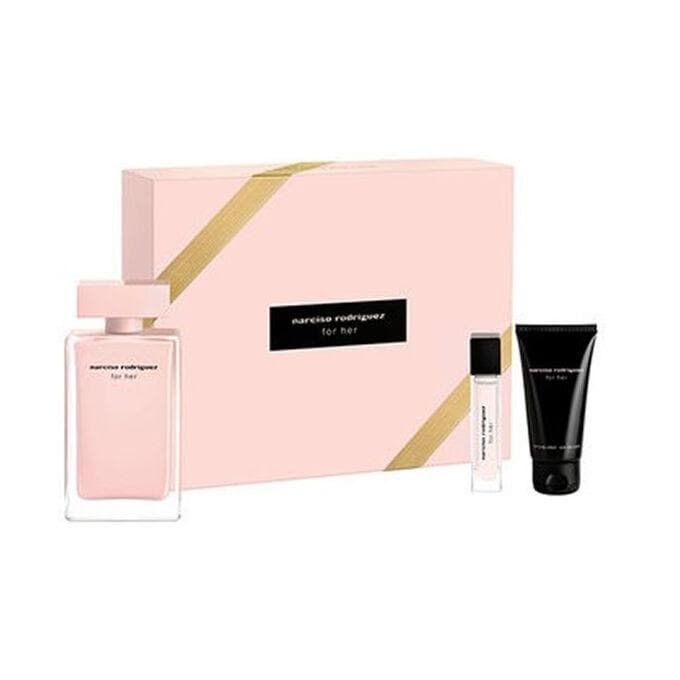 Narciso Rodriguez For Her 100ml Edp with Pursespray and Bodylotion