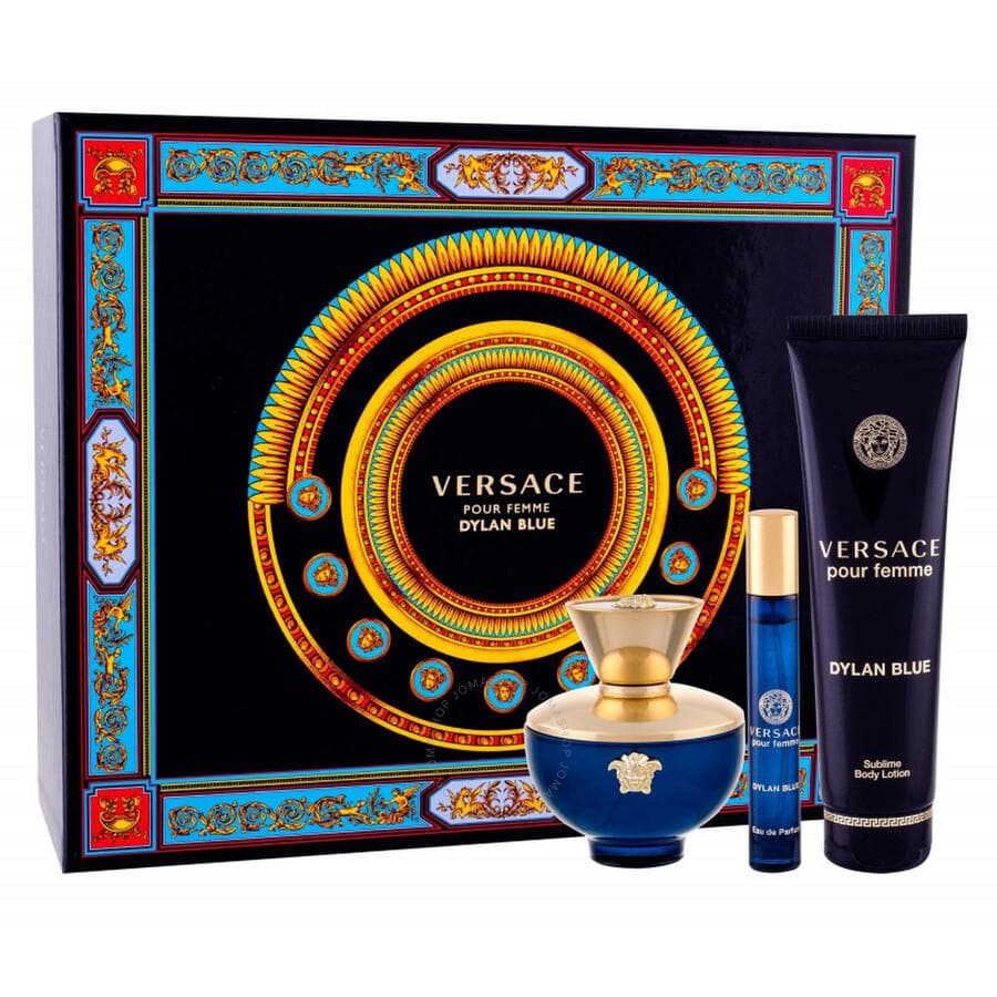 Versace Dylan Blue pour Femme 100ml Edp Giftset