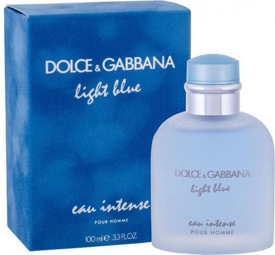 Dolce & Gabbana Light Blue Eau Intense for Men 100ml Edt 100ml Edp  Dolce&Gabbana For Him