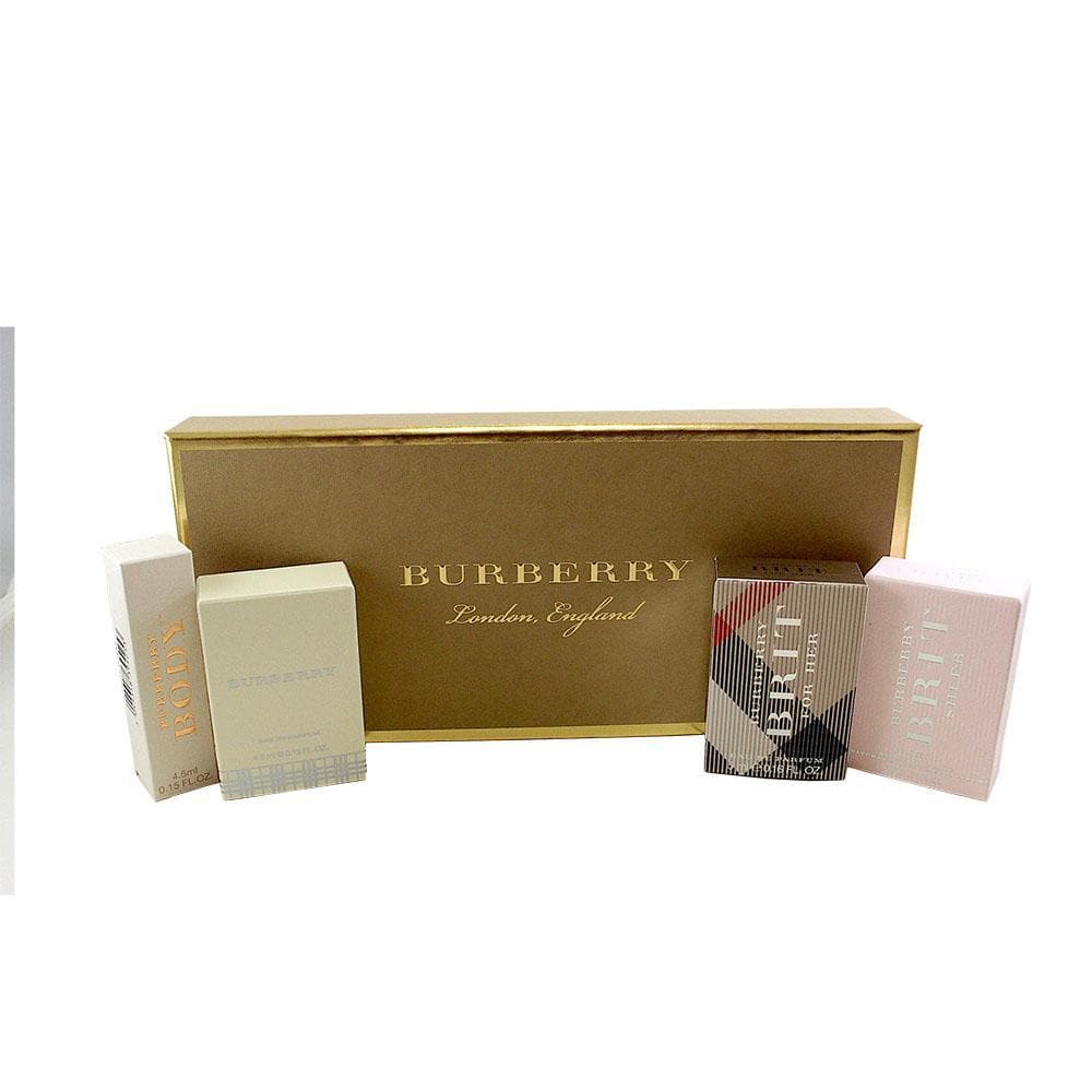 Burberry Miniature Giftset For Women 4 x Minis  Burberry Giftset For Her