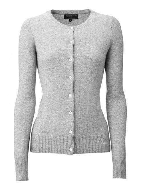 save off 4121c 3b783 Cashmere Cardigan - White Grey