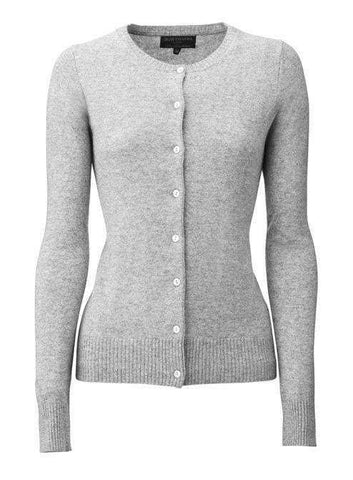 Cashmere Cardigan - White Grey - My Perfume Shop