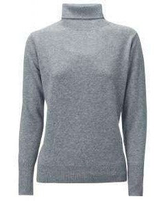 Cashmere Roll Neck - Grey Mel - My Perfume Shop