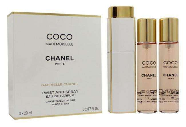 Chanel Coco Mademoiselle Eau de Parfum - Twist & Spray 3 x 20ml Edp Purse Sprays  Chanel For Her