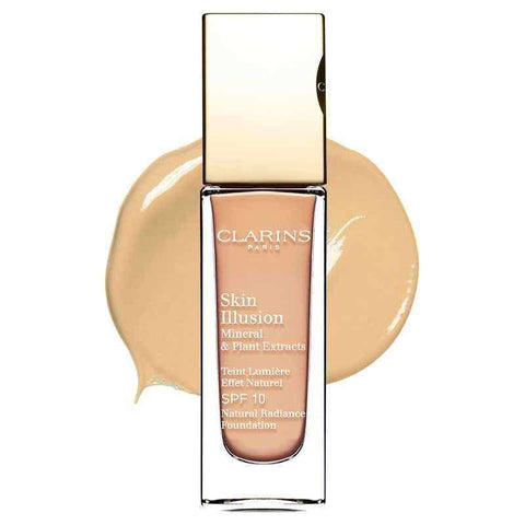 Clarins Skin Illusion Natural Radiance Foundation 110 Honey - Unbox - My Perfume Shop
