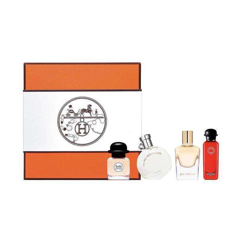 Hermes Deluxe Coffrets Miniatures Set 4 x Hermes Minis 7,5ml  Hermes Giftset For Her