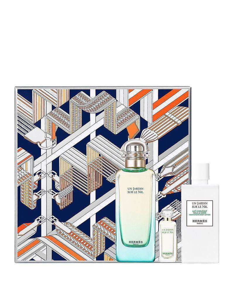 Hermes Un Jardin Sur Le Nil - Giftset 100ml edt, 7.5mini & 80ml body lotion  Hermes Giftset For Her