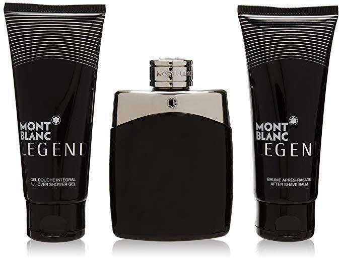 Mont Blanc Legend For Men - 100ml EDT Giftset 100ml edt, ASB & SG  Mont Blanc For Him