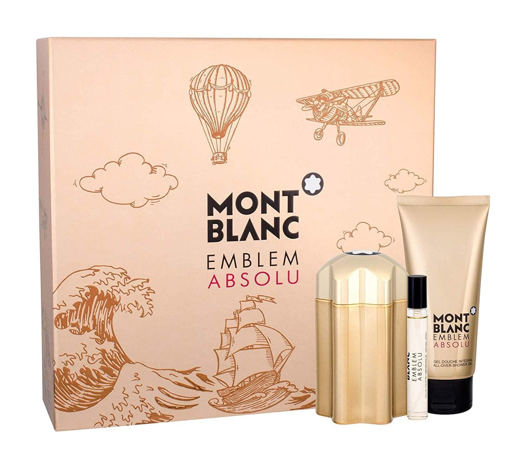Mont Blanc Emblem Absolu 100ml Edt - Giftset 100ml edt, mini and Showergel  Mont Blanc For Him