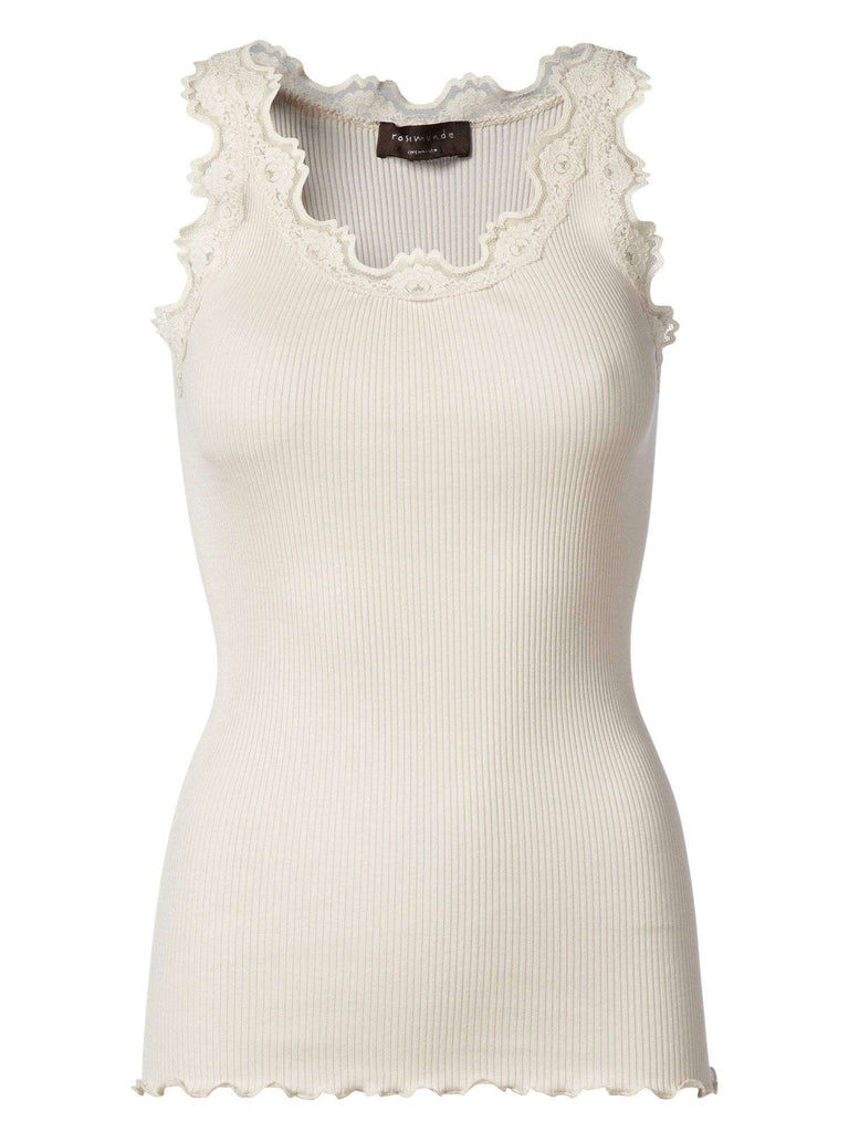 Rosemunde Lace Top In Silk - Soft Powder S  Rosemunde Clothing
