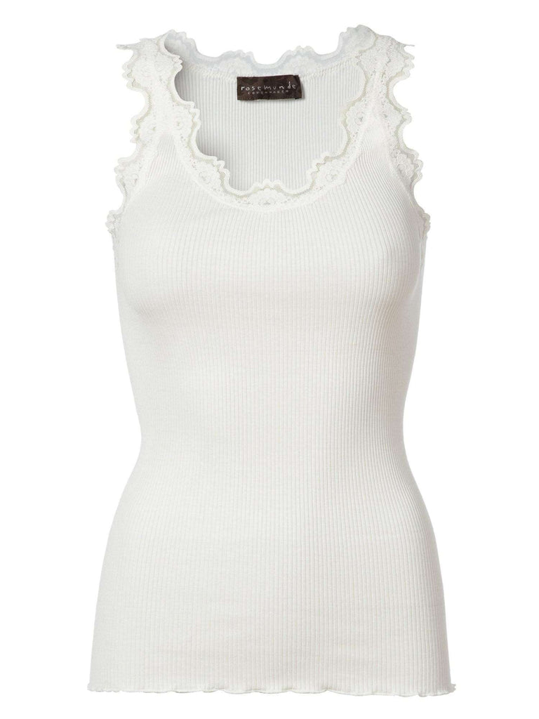Rosemunde Lace Top In Silk - White S  Rosemunde Clothing