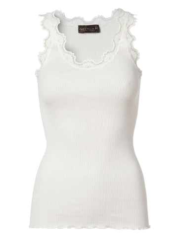 Rosemunde Lace Top in Silk - White - My Perfume Shop