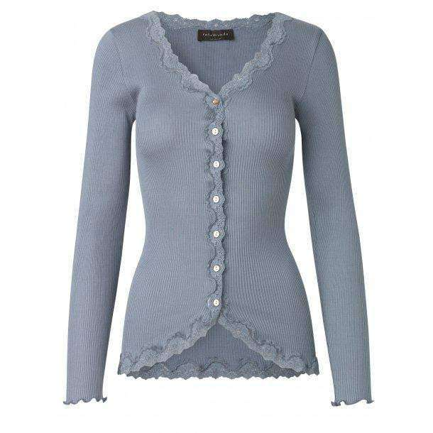Rosemunde Vintage Lace Cardigan in Silk - Soft Blue - My Perfume Shop