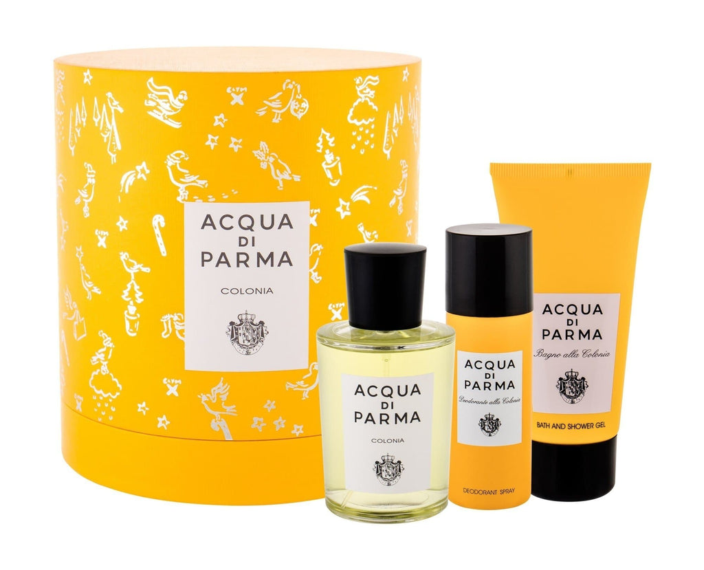Acqua Di Parma Colonia EDC 100ml - Giftset 100ml Edc, 75ml S/G & 50ml Deo  Acqua di Parma For Him