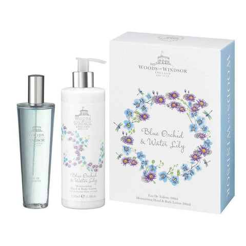 Woods Of Windsor Blue Orchid & Water Lily Duo Gift Set - My Perfume Shop