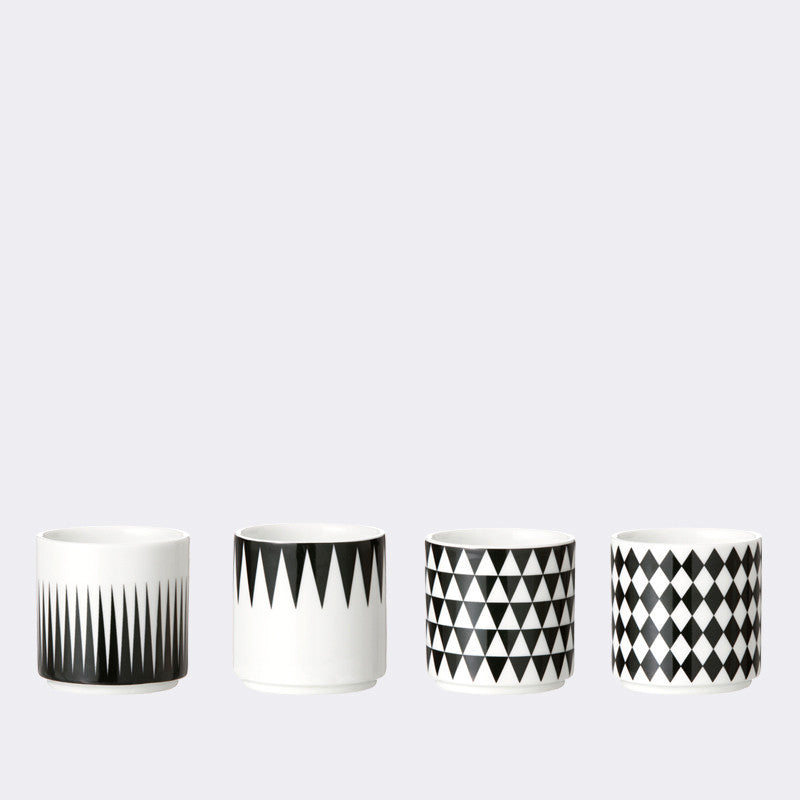 Ferm Living Geometry Espresso Cups- set of 4