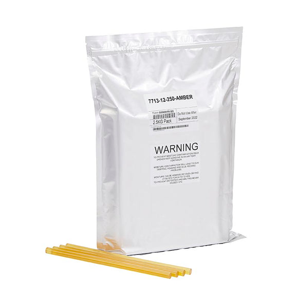 Amber Wood Knot Filler Glue, New 5.5lb resealable foil bag (about 100 sticks)