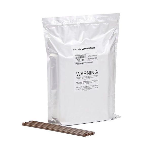 Mahogany Wood Knot Filler Glue, New 5.5lb resealable foil bag (about 100 sticks)
