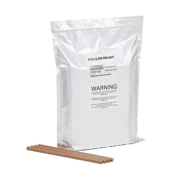 Walnut Wood Knot Filler Glue, New 5.5lb resealable foil bag (about 100 sticks)