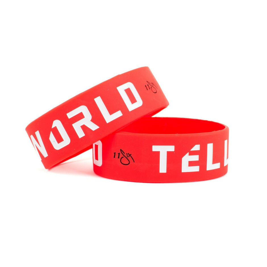 'Tell The World' Wristband