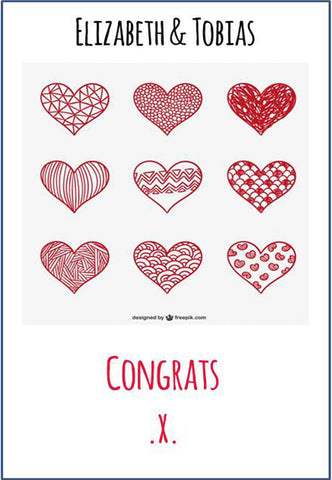 Personalised Congratulations Cards Weddings Good Little Gifts Co