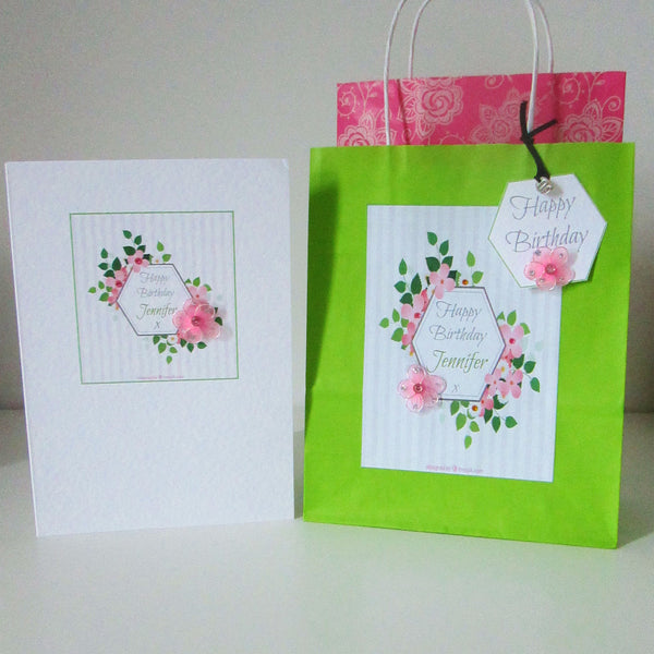 Personalised Birthday Gift Bag Set