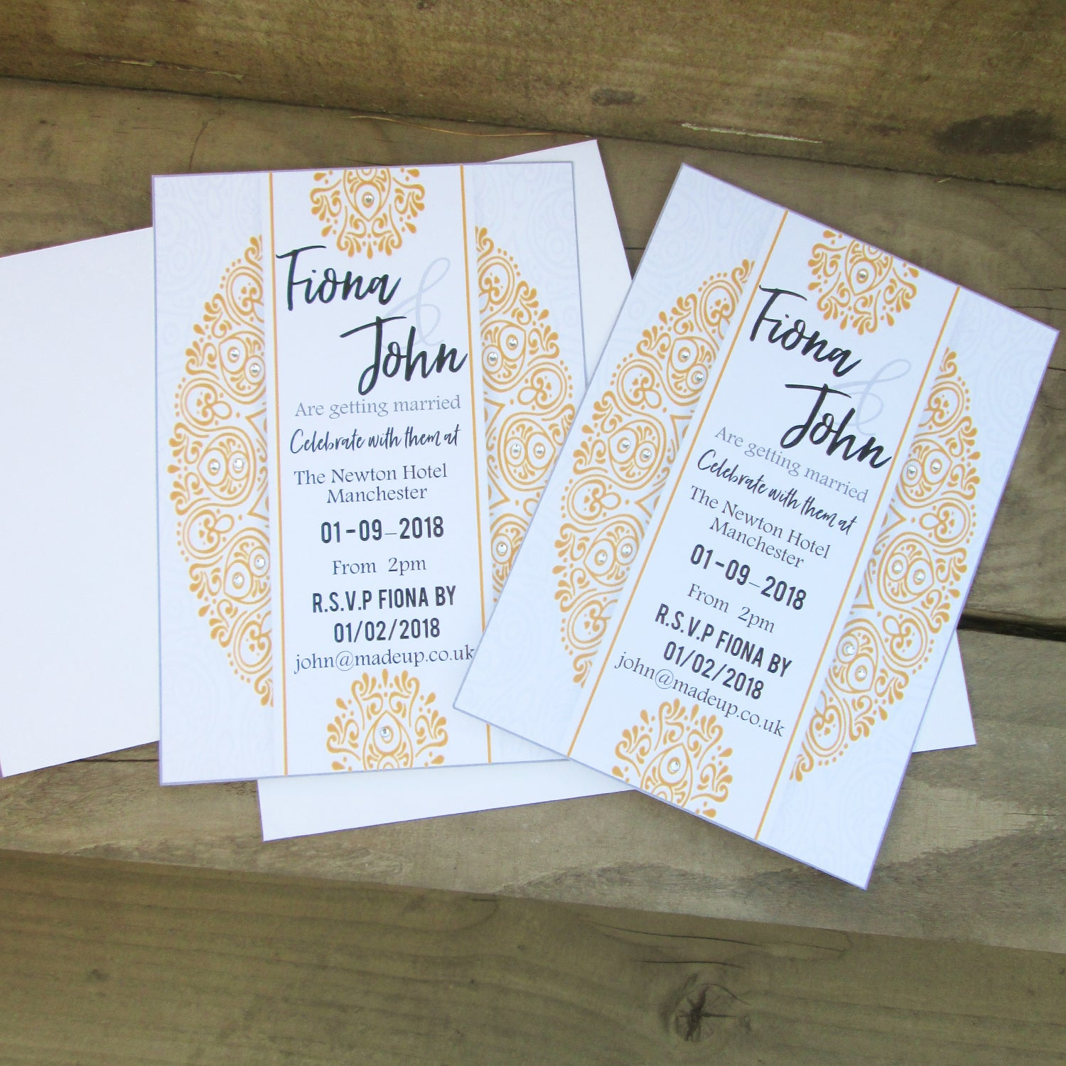Personalised Mandala Design Wedding Invitations Good Little Gifts Co