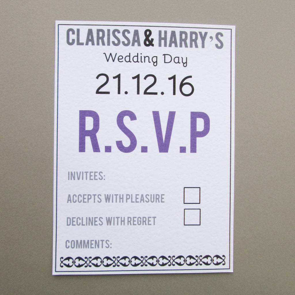 Personalised Modern Wedding Invitation Cards – Good Little Gifts Co