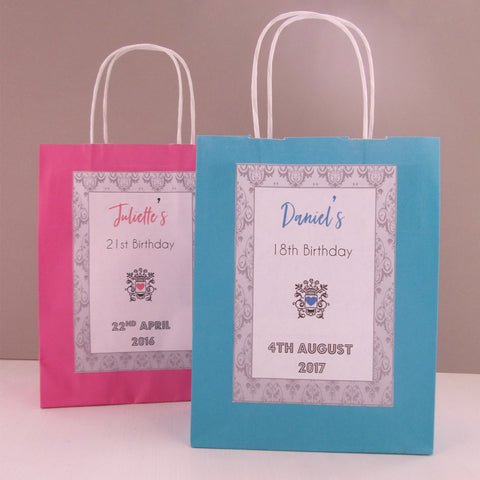 Personalised Birthday Gift Bags