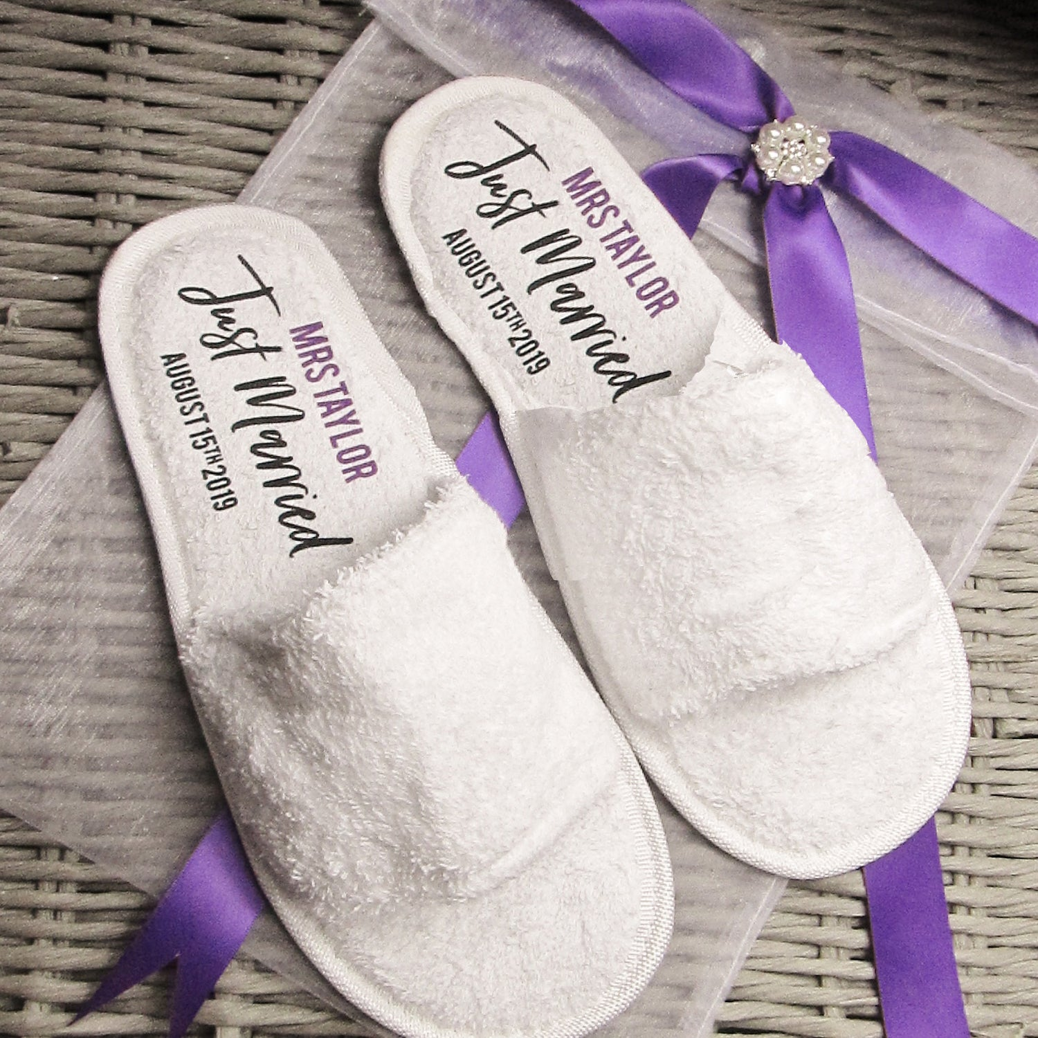 072449f5619 Personalised Wedding Slippers