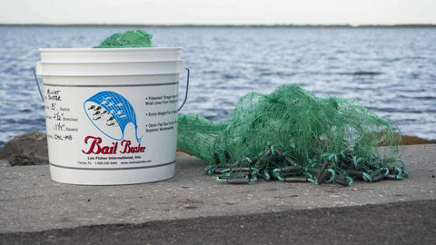 "Bait Buster Mullet Cast Nets CML-MB10-NDS, 10 ft. Radius, 1-1/4"" Sq. Mesh"