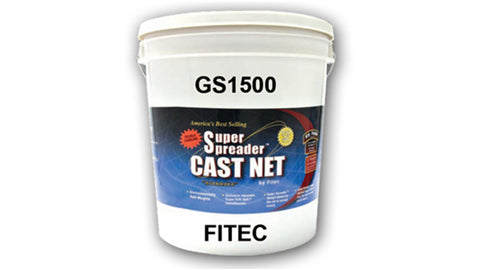 "Fitec GS-1500 Ultra Spreader Shrimp Cast Nets #11970, 7 ft. 5/8"" Sq. Mesh With Tape"