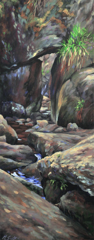 Art image of the Burn OVat at the muir of dinnet by artist Mary Louise Butterworth