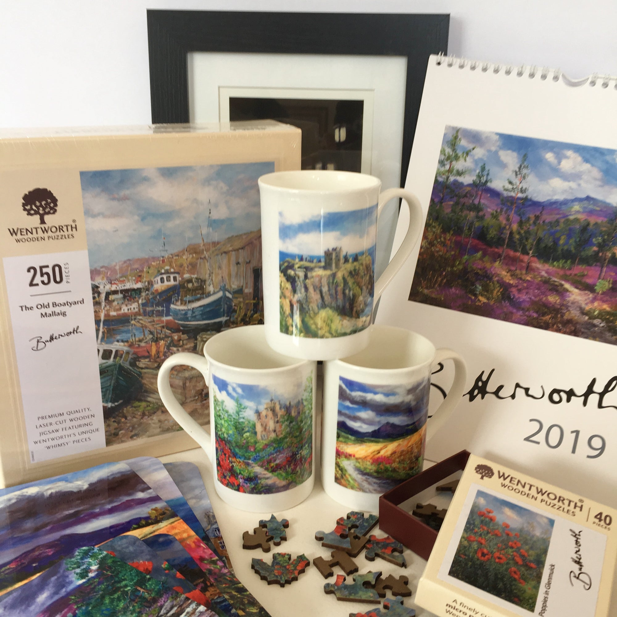 Fine Art Scottish Giftware and gift ideas from Scottish artists Mary Louise Butterworth and Howard Butterworth. Scottish Art Gallery in Royal Deeside Scotland.