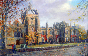 Kings College Old Aberdeen print by artist Howard Butterworth Aberdeen University