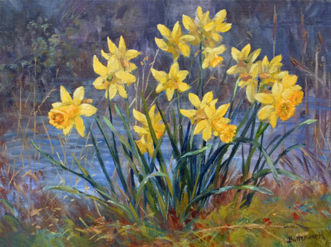 Daffodils painted by the artist howard butterworth