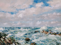 Stormy seas art image by artist howard butterworth