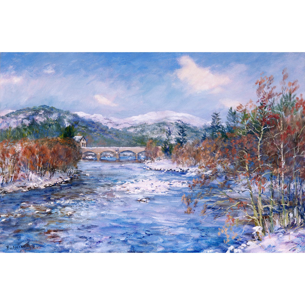 Ballater Bridge in Snow