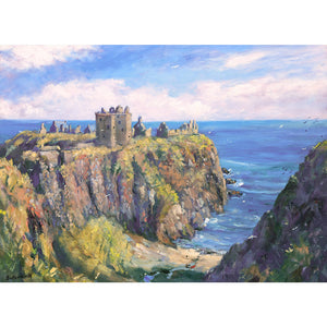 Dunnottar Castle in Aberdeenshire this image is a greeting card by Howard Butterworth Available to purchase from The Scottish Fine Art Gallery in Aberdeenshire
