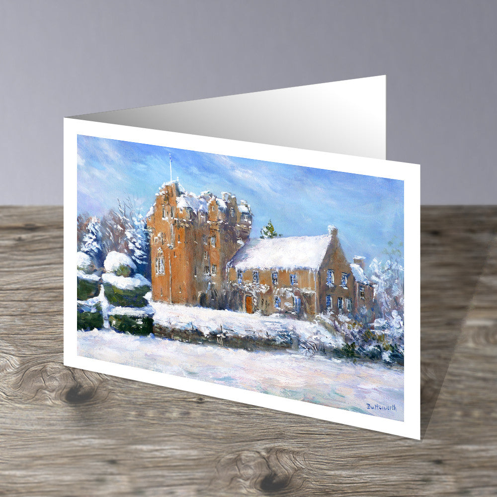 Crathes Castle in Snow