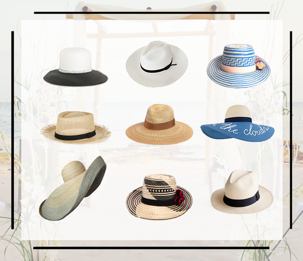 """THE"" hat for your beach destination wedding"