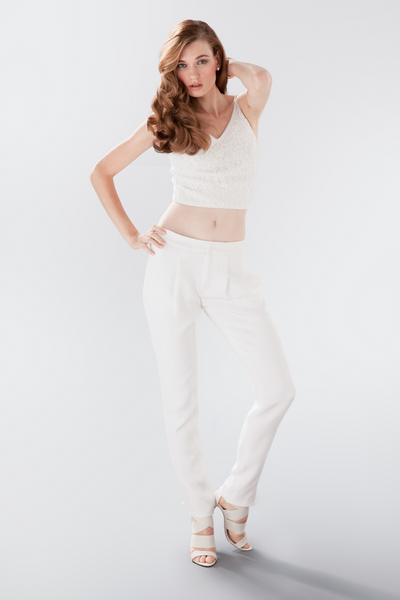 Elizabeth beaded top and pant Aideux