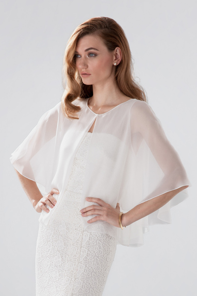 Nancy cape sheer chiffon Aideux
