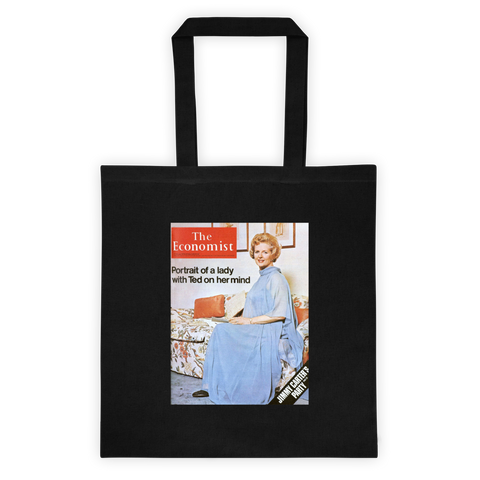 Tote bag: Portrait of a lady with Ted on her mind