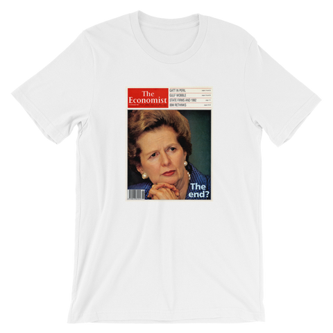 The Economist cover T-shirt: the end of Margaret Thatcher