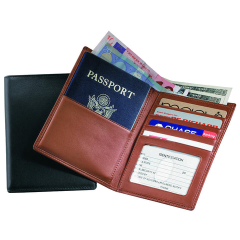 Personalized RFID Blocking Passport Currency Wallet