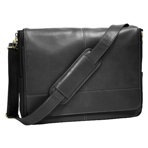 Personalized Leather Laptop Messenger Bag
